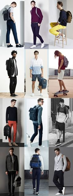 Men's Backpacks Outfit Inspiration Lookbook