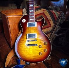 Awesome looking Les Paul from @adevalera #lespaul Learn to play guitar online at www.studio33guitarlessons.com