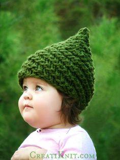 Knitting PATTERN  Baby Gnome Hat Pattern  Sizes от CreatiKnit