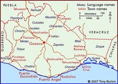 This is a map of Oaxaca Oaxaca is a country located in Southern