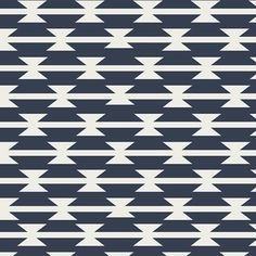 April Rhodes - Arizona - Tomahawk Stripe in Night - possible curtains or the ottoman - $9.95