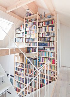 i hope to have read enough books to fill a shelf like this by the time i'm wealthy enough to have a three-storey house that can necessitate such book storage