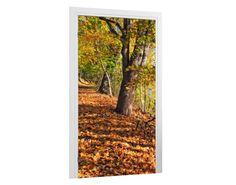 Türtapete Uferweg im Herbst Tapeten & Farben Türtapeten Mit Pflanzen & Tieren