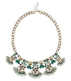 Green Gem 5 Navette Necklace