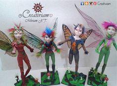 Miriam J.T. Creativiam, figuras de arcilla polimérica y papel maché, hadas, duendes, hongos, seres de fantasía y otros, arte elaborado a mano.