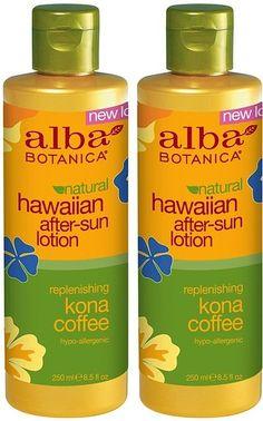 Alba Botanica Natural Hawaiian After Sun Lotion in Replenishing Kona Coffee