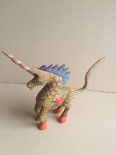 Unicorn  ALEBRIJE Oaxaca wood carving