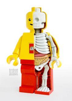 Creative but a little creepy! Mini Figure (©Lego) Hand sculpted interior anatomy by Jason Freeny