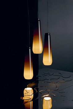 'Glassdrop' pendant lamps, by Diesel and Foscarini #design #lighting