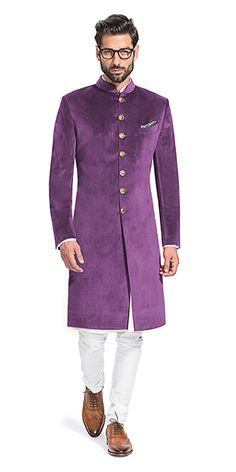 Make a style statement with our wide range of customized ethnic wear for men. View finely tailored custom made sherwani, bandhgala jacket and more at Herringbone & Sui. Indian Formal Wear, Indian Groom Wear, Indian Wear, Mens Sherwani, Wedding Sherwani, Dress Suits For Men, Mens Suits, Best Mens Fashion, Suit Fashion