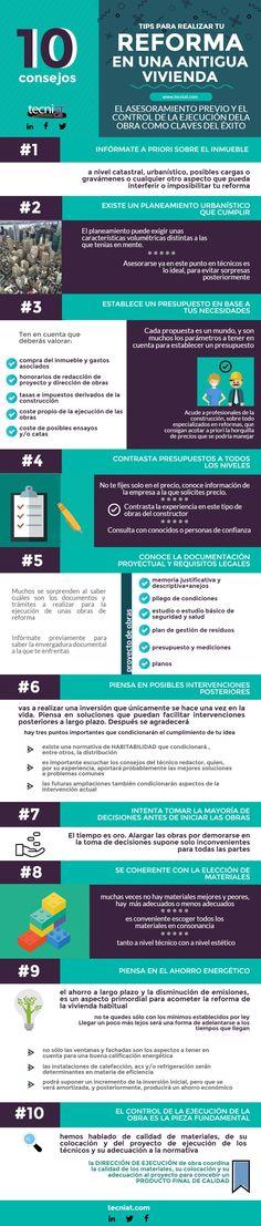 #Infografía:10 tips para la reforma de una vivienda antigua