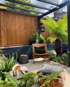 387 Likes, 53 Comments - Maz Small Garden Big Ideas, Small Garden Pergola, Small City Garden, Narrow Garden, Small Courtyard Gardens, Garden Privacy, Small Courtyards, Backyard Privacy, Garden Seating