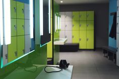 Lockers for Leisure - changing room furniture designed, manufactured and installed by Craftsman Lockers #bespokelockers, #sportslockers, #gymlockers, #specialistjoinerylockers Sports Locker, Gym Lockers, Room Furniture Design, Changing Room, Vanity Units, Joinery, Bespoke, Craftsman, Rooms