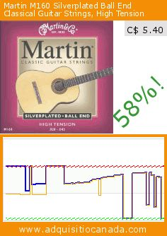 Martin M160 Silverplated Ball End Classical Guitar Strings, High Tension (Electronics). Drop 58%! Current price C$ 5.40, the previous price was C$ 12.84. https://www.adquisitiocanada.com/martin/m160-silverplated-ball
