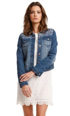 Prettier Wednesday: April Boxes Bring May...Foxes? I chose this denim jacket for my tote #polishedportland #woo
