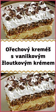 Czech Recipes, Ethnic Recipes, Yummy Cookies, Tiramisu, Creme, Sweet Tooth, Cheesecake, Deserts, Dessert Recipes