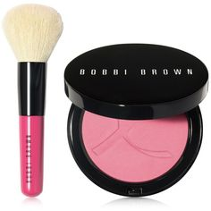 Bobbi Brown 2-Pc. Pink Peony Belize Illuminating Bronzing Powder Set ($55) ❤ liked on Polyvore featuring beauty products, makeup, cheek makeup, cheek bronzer, pink peony belize, bobbi brown cosmetics, blending brush and blender brush