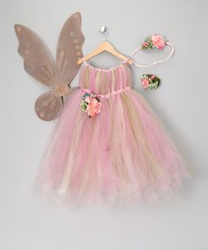 Take a look at this Rose Fairy Dress Set - Infant, Toddler & Girls by Enchanted Fairyware Couture on #zulily today!
