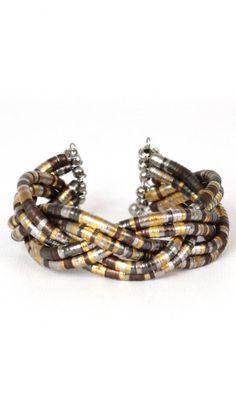 #Vtg 70s #Bohemian Gold Braided #Cuff Bangle Bracelet #Gypsy Hippie Ethnic