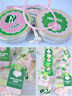 Bird's Party Blog: Girls Scout Party + FREE Printables!