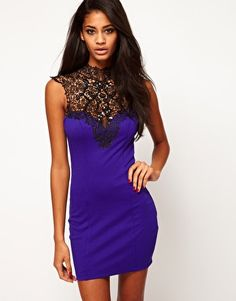 Enlarge Lipsy Lace Collar Dress