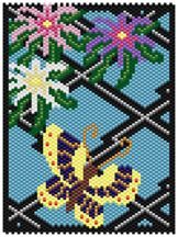 Deco Butterfly Pattern at Sova-Enterprises.com Lots of Free Beading Patterns and tutorials are available!