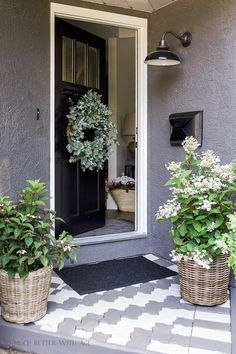 I've teamed up with Balsam Hill today for their Entryways of Summer Housewalk and can't wait to share with you my front porch that I just did a quick makeo