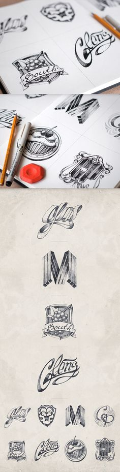 Logotypes collection | 2012-2013 by Mike , via Behance #creatividad