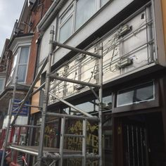Shop front sign going up at Escape Room Bournemouth