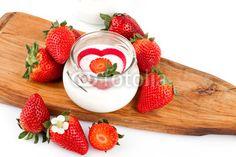 Strawberries Yogurt