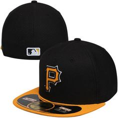 cheap for discount 8369f 94571 New Era Pittsburgh Pirates Black On Field Diamond Era 59FIFTY Fitted Hat  Pirate Hats, Dad