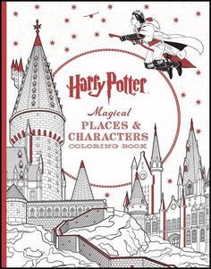 Harry Potter- Magical Places and Characters (colouring book) • English Wooks