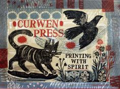 """Mark Hearld - """"Printing with Spirit"""" (litho created to celebrate 50 years of the Curwen Studio exhibition)"""