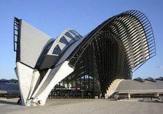 Famous French airport by Calatrava