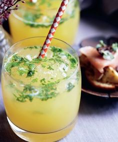 Ananas-mojito med frisk mynte