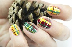 Mad About Plaid Christmas Nails