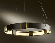 "Aura Hubbardton Forge- $2,979; 138585-07; Adjustable height 18"" to 72"". 28.9"" diameter. Canopy is 7"" diameter."