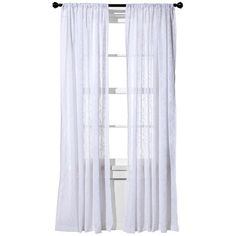 Threshold™ Clipped Sheer Curtain Panel   White (... : Target