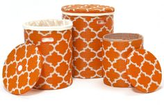 Tangier - Carrot & White Baskets
