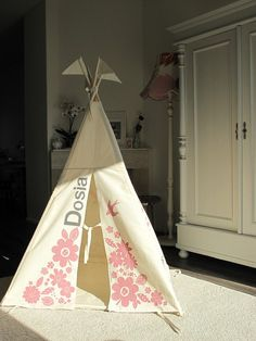 Indoor play teepee with name!