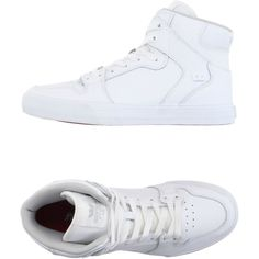 Supra Sneakers ($89) ❤ liked on Polyvore featuring men's fashion, men's shoes, men's sneakers, white, mens white leather shoes, mens white sneakers, mens leather shoes, mens leather sneakers and mens white shoes