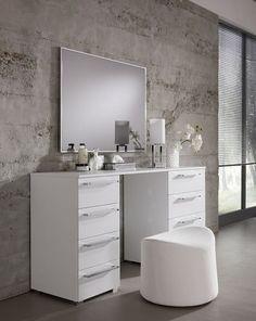 Moderne Witte Kaptafel.15 Beste Afbeeldingen Over Moderne Kaptafel Makeup Stand Home