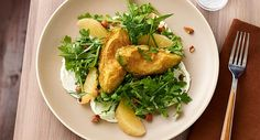 Arugula Salad with Tempura Avocados - Avocados are plentiful now, so get some into the kitchen and experiment with preps that take them beyond guacamole. In this application, avocado wedges are battered and fried to contrast with fresh arugula and sweet-tart grapefruit sections for an appetizer, side or small plate.