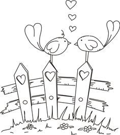 Freebie: Digital Love Birds Stamp · Stamping | CraftGossip.com