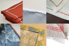 ourlets serviettes table 6 façons de finir des serviettes de table