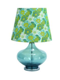 Metal Glass Table Lamp Bubble Floral Shade Blue Green White D | lamp | lighting, furniture | accents, home decor | accessories, wall decor, patio | garden, Rugs, seasonal decor,garden decor,patio decor,lamps and lighting