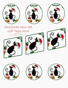 Free Mini Cat Series Cross Stitch Patterns All patterns are for personal use only, you can use them for making gifts for family an...
