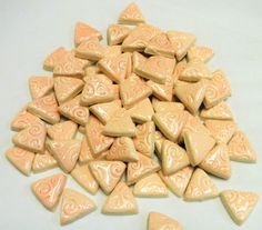 Mosaic Tiles-Pink Pastel 1 Inch 75 pieces-embossed by mosaicmonkey