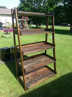 My reclaimed wooden shelf. It's a beauty!