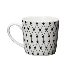 The Net mug by Littlephant was designed by Camilla Lundsten with a simple, clean black and white design. The mug is made of thin, durable porcelain to create a wonderful drinking experience, for whichever beverage you may choose.